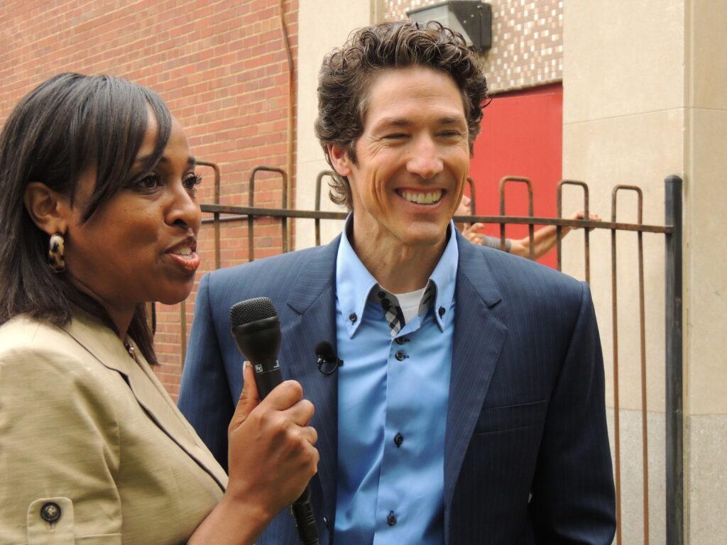 Cassandra Hill with Joel Osteen