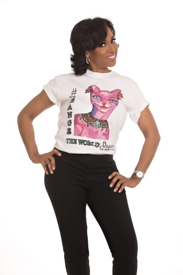 Cassandra Hill in a Shyann T-Shirt