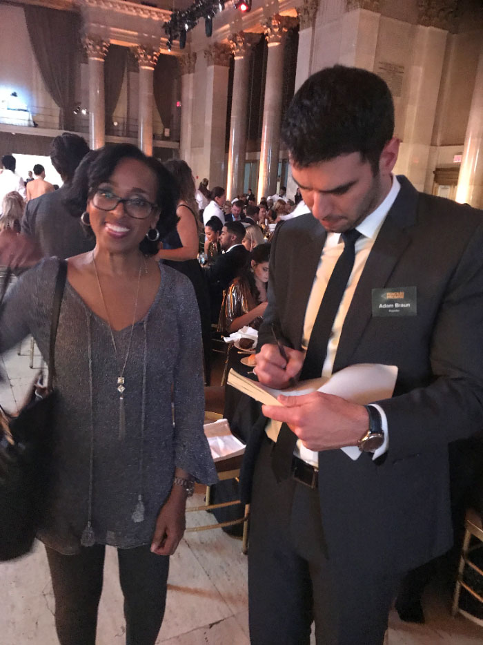 Author and Illustrator Cassandra Hill with Pencils of Promise founder Adam Braun