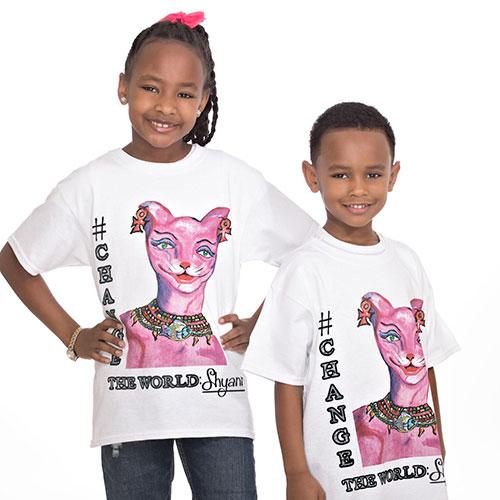 Siblings in Shyann's T-Shirt